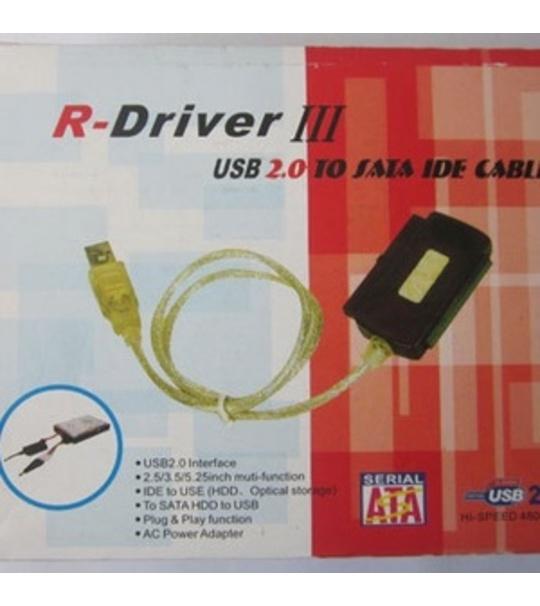R -Driver 3 Usb 2.0 sata/ide cable Convertor