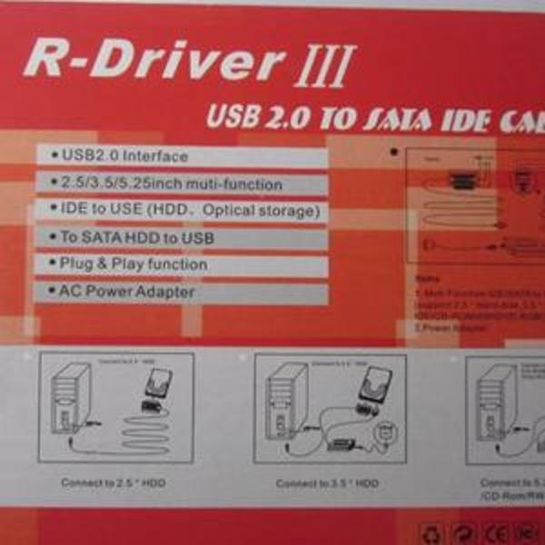Usb to ide doble sata (r-driver iii) 3. 0 new.
