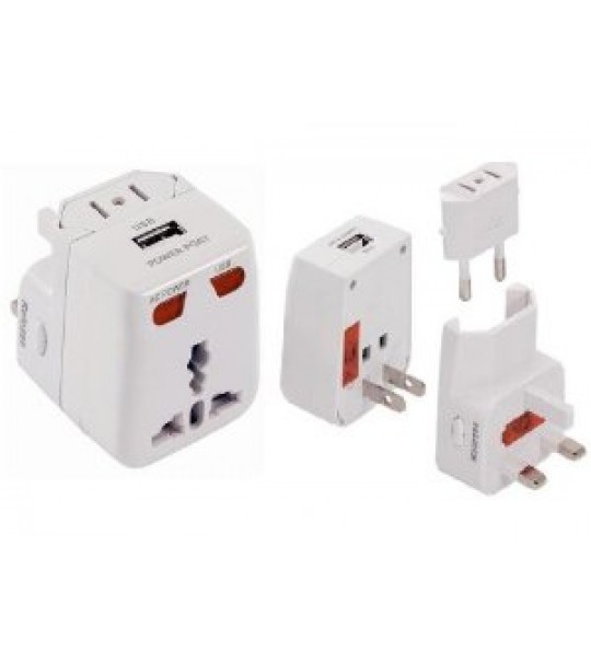 Worldwide Usb Travel Adaptor/charger plug -works in over 175 countries