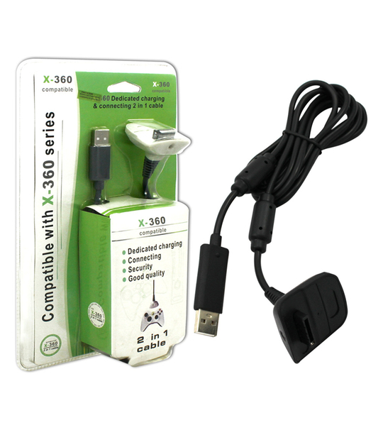 Xbox 360 2in1 Dedicated Charging & Connecting Usb Cable
