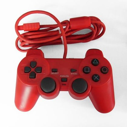 Ps2 Dual Shock Controller OEM Red Controller