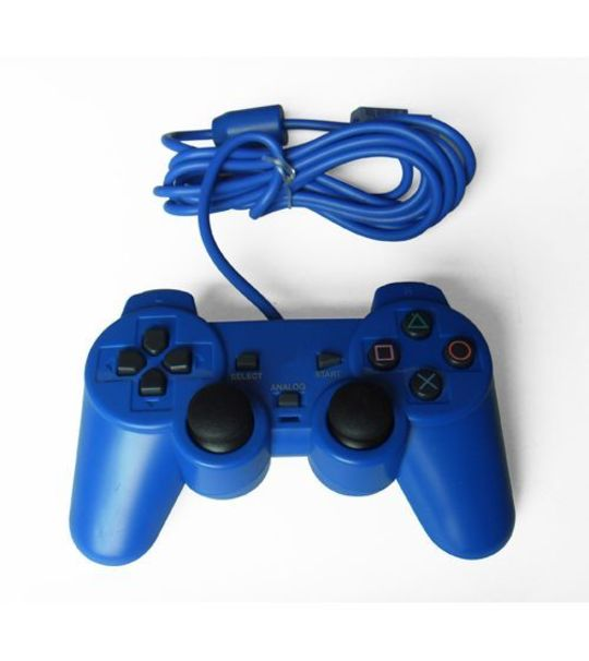 Ps2 Dual Shock Controller OEM Blue Color