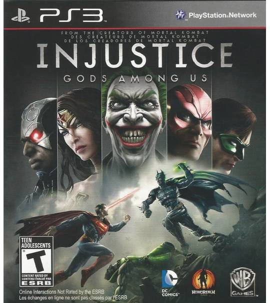 PS3 INJUSTICE GOD AMONG US ULTIMATE EDITION R2