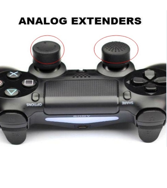 PS4 Dual Shock Controller Thumb Stick Extenders (2pcs)(Loose Packaging)
