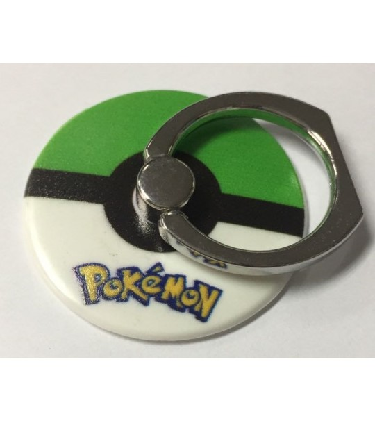 Pokemon Pokeball Rotating Ring Stand Holder - GREEN