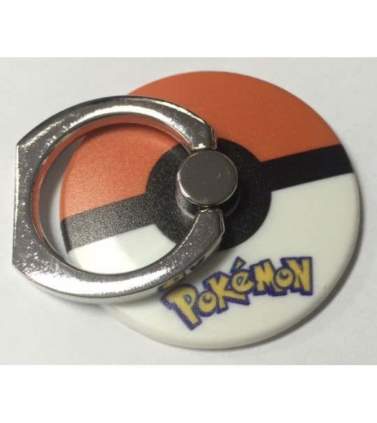 Pokemon Pokeball Rotating Ring Stand Holder - ORANGE