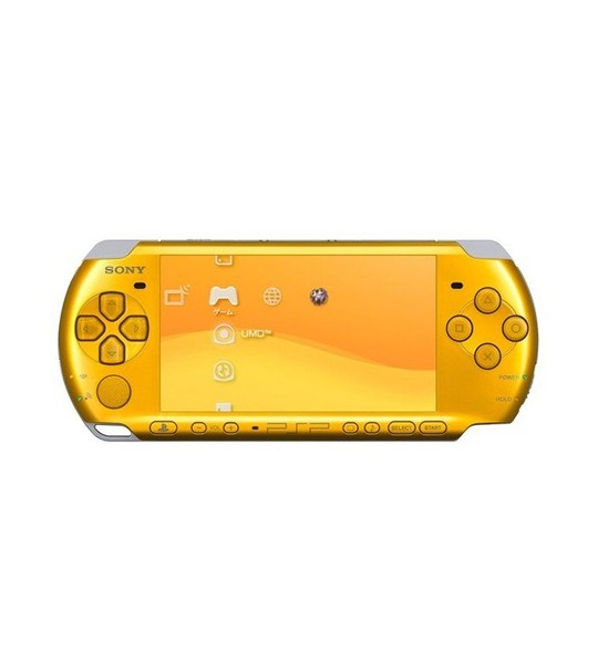 Sony Psp 3006 Slim & Lite -Bright Yellow Full Offer Bundle