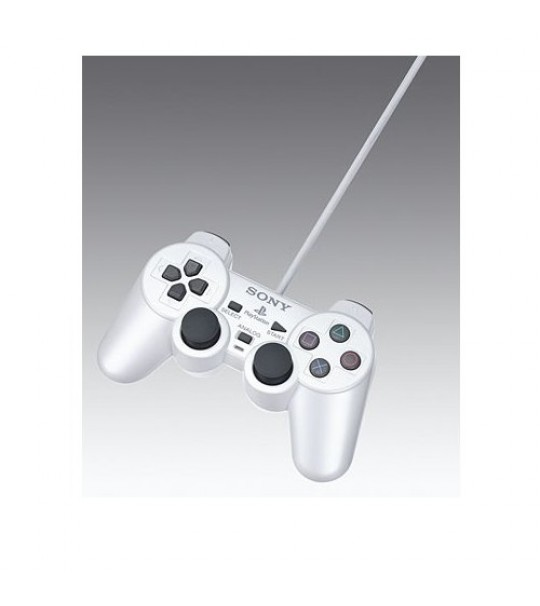 Ps2 Dual Shock Controller OEM Satin Silver Controller