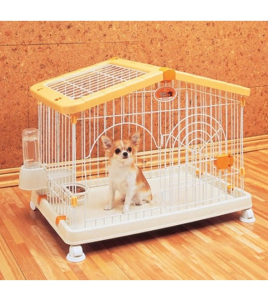 Original IRIS Dog Cage Yellow House HCA-800