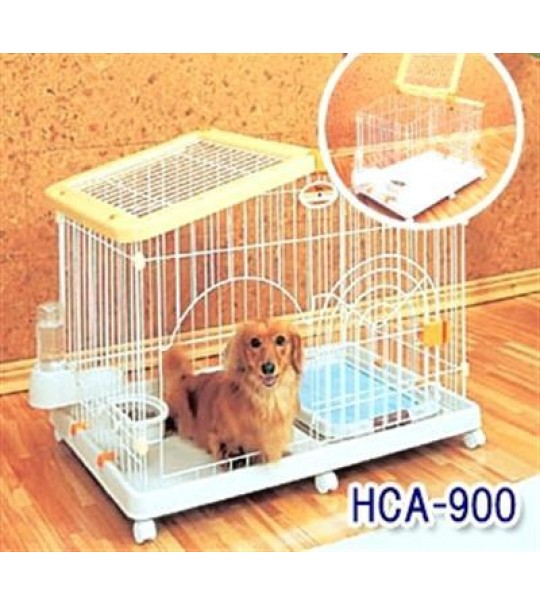 Original IRIS Dog Cage Yellow House HCA-900