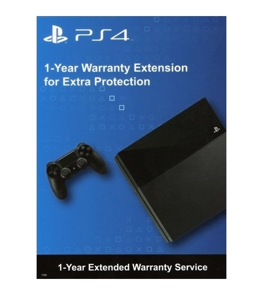 1-Year (12 Month) Extended Warranty Service For PlayStation 4