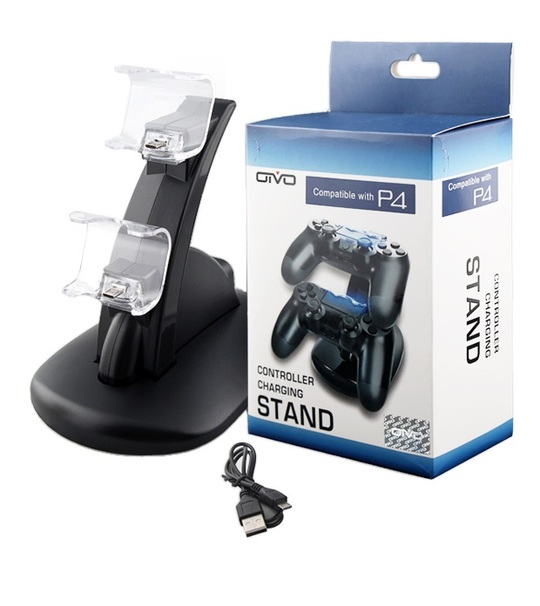 PS4 Slim/Pro OTVO Controller Charging Stand Black(IV-P4002)