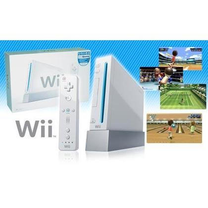 Nintendo Wii+Remote+Nunchuk Controller +120gb External Hdd full Games