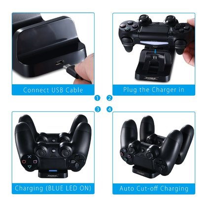 PS4 DOBE SLIM/PRO DUAL CHARGING DOCK BLACK TP4-002