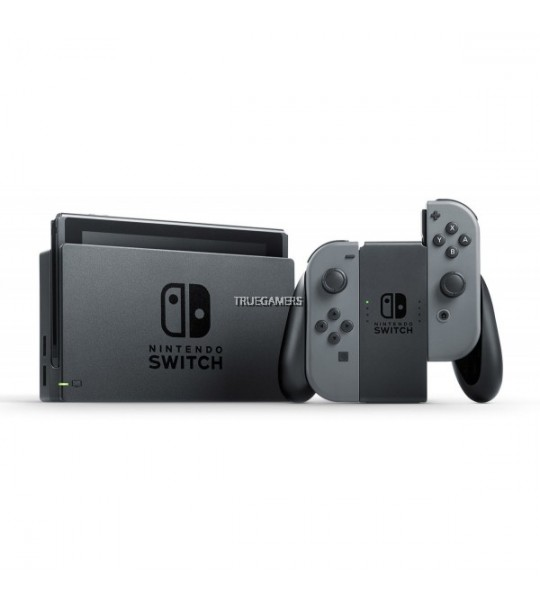NINTENDO SWITCH CONSOLE (GREY/BLACK) ASIA FREE ZELDA SKIN