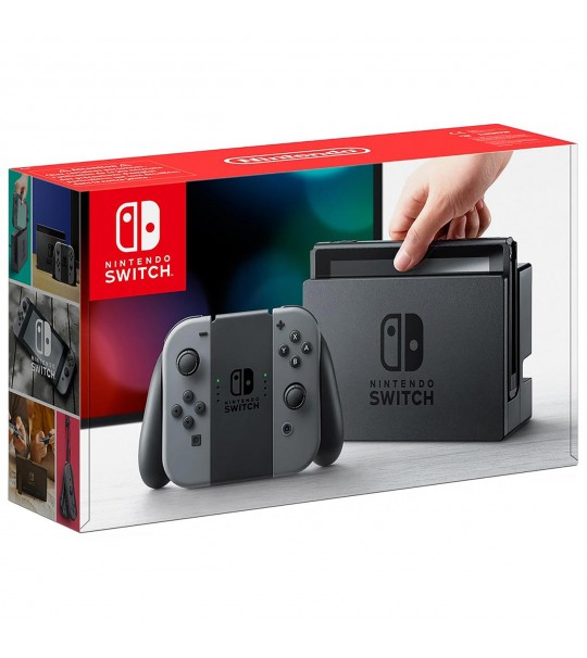 NINTENDO SWITCH CONSOLE (GREY/BLACK) ASIA 1 YEAR MAXSOFT WARRANTY