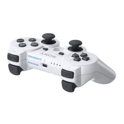 Ps3 Dual Shock 3 Controller Classic White -OEM