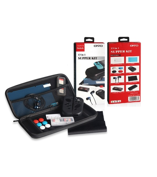 NINTENDO SWITCH OTVO 13 IN 1 SUPPER KIT - BLACK(IV-SWT01)
