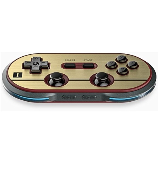 8BITDO FC30 PRO GAME BLUETOOTH CONTROLLER ORIGINAL RED/GOLD