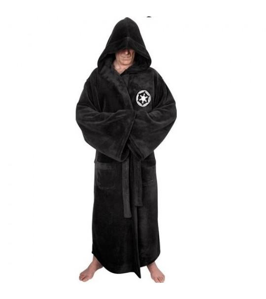 Star Wars - Galactic Empire Fleece Robe - Black Logo - Adult One Size