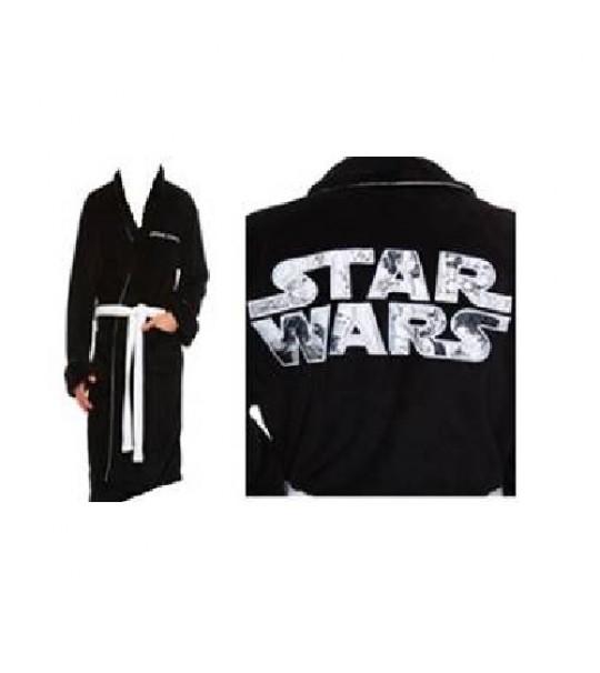 Star Wars - Fleece Robe - SW Logo  - Adult One Size