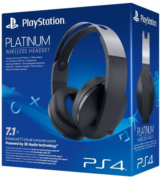PS4 SONY WIRELESS STEREO PLATINUM  HEADSET