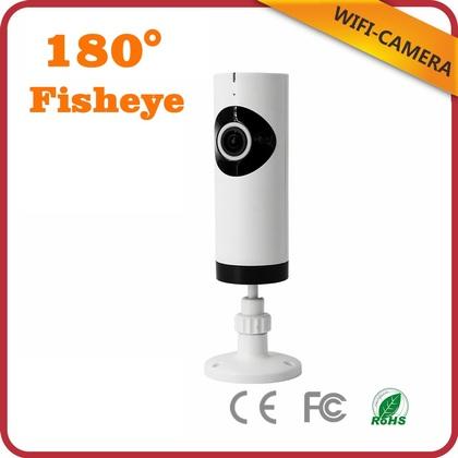 F-SHEILD 0102W FishEye HD Wifi Panoramic 180 Degree Smart Home Office Retails IP Camera