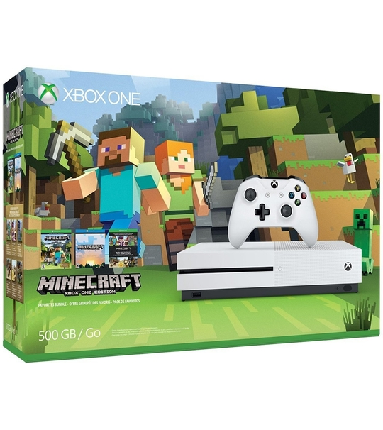 XBOX ONE S 500GB ASIA MINECRAFT BUNDLE