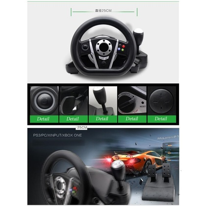 OTVO 3 in 1 Racing Game Steering Wheel (Xb1/PS3/PC)
