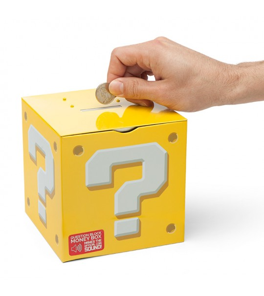 NINTENDO SUPER MARIO QUESTION BLOCK MONEYBOX