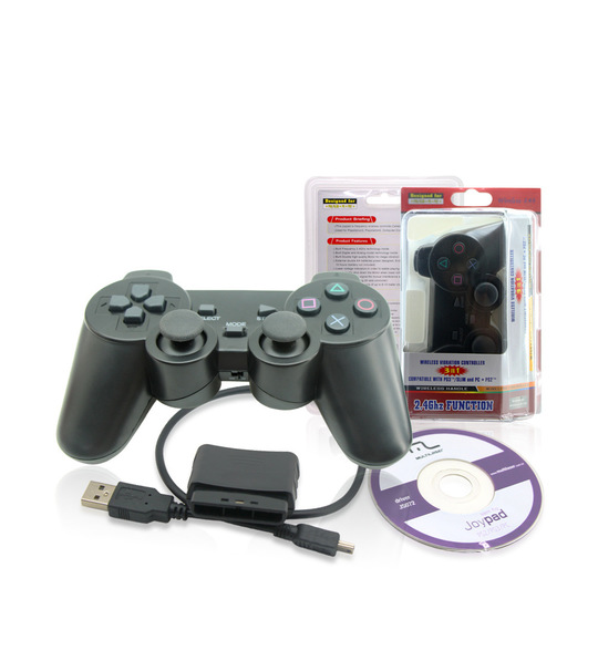 Pc/Ps2/Ps3  3 in 1 Wireless Vibration Controller