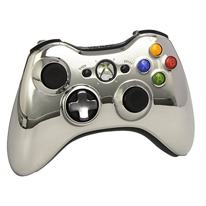 Microsoft Xb360 Wired Chrome Silver Controller Window Compatible