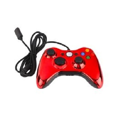 Microsoft Xb360 Wired Chrome Red Controller Window Compatible