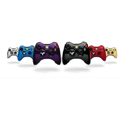 Microsoft Xb360 Wired Chrome Purple Controller Window Compatible