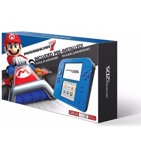 Nintendo 2DS Mario kart 7 Blue Bundle (Mario Kart 7 Preinstalled) +Free 2Games