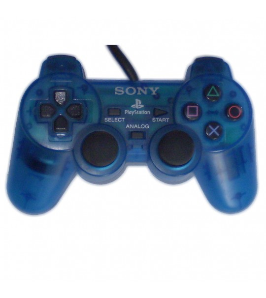 Ps2 Dual Shock Controller OEM Transparent Blue