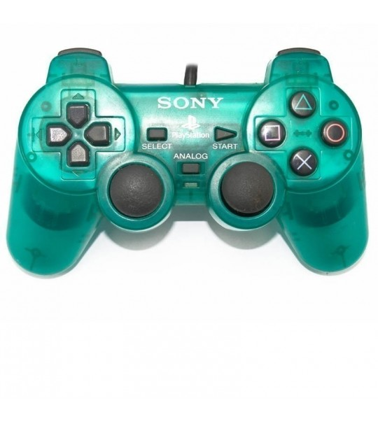 Ps2 Dual Shock Controller OEM Transparent Green