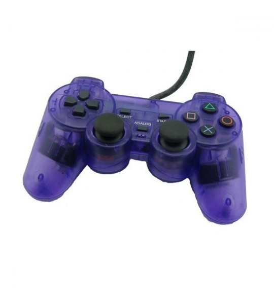 Ps2 Dual Shock Controller OEM Transparent Purple