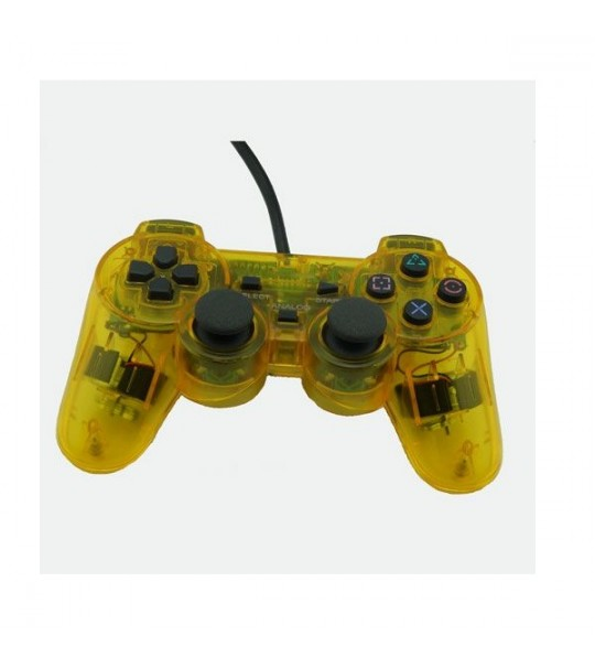 Ps2 Dual Shock Controller OEM Transparent Yellow