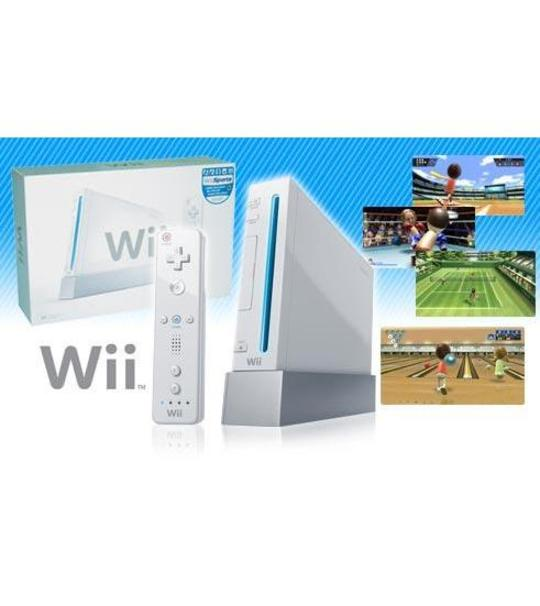 Nintendo Wii+Remote+Nunchuk Controller +120gb External Hdd full Games + WII FIT PRE OWNED