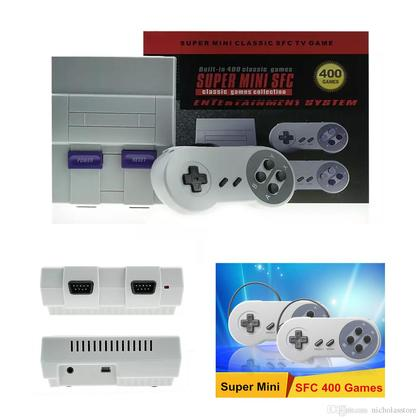 Super Mini SFC Built-In 400 IN 1 Classic Game Console