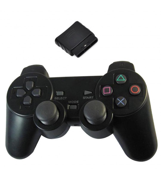 Ps2 Dualshock 2 Wireless Controller 2.4G - (Black Color)