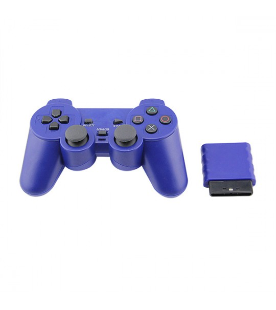 Ps2 Dualshock 2 Wireless Controller 2.4G - (Blue Color)