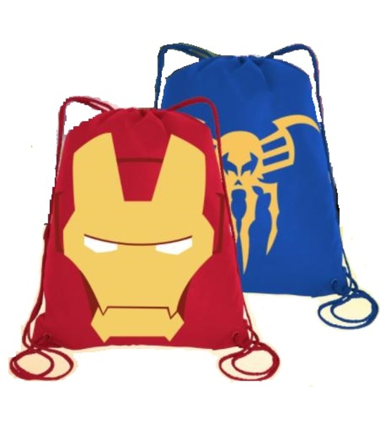 Lego Marvel SuperHeroes 2 Drawstring Bag - (Red Color)