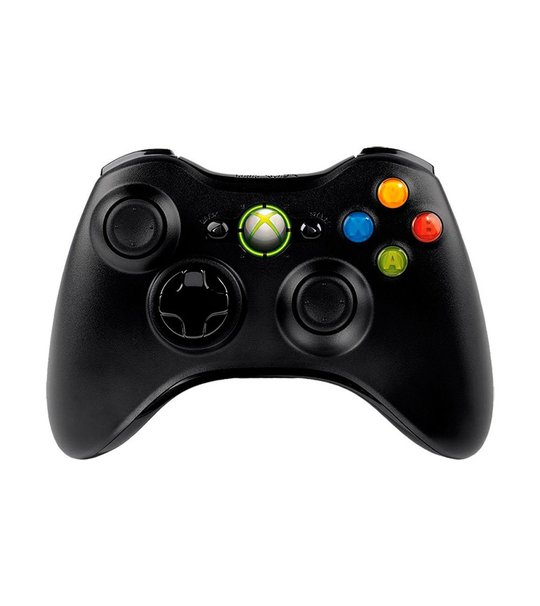 XBOX 360 WIRELESS CONTROLLER REFURBISHED BLACK