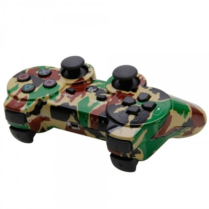 Ps3 Dual Shock 3 Controller Green Camouflage -OEM