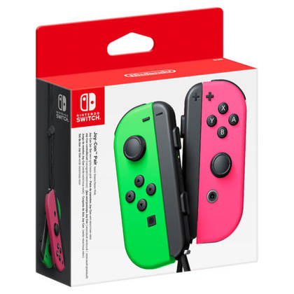 NINTENDO SWITCH OFFICIAL JOY-CON LEFT GREEN + RIGHT PINK