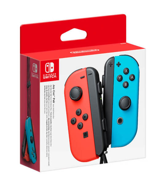 NINTENDO SWITCH OFFICIAL JOY-CON LEFT + RIGHT NEON RED & BLUE