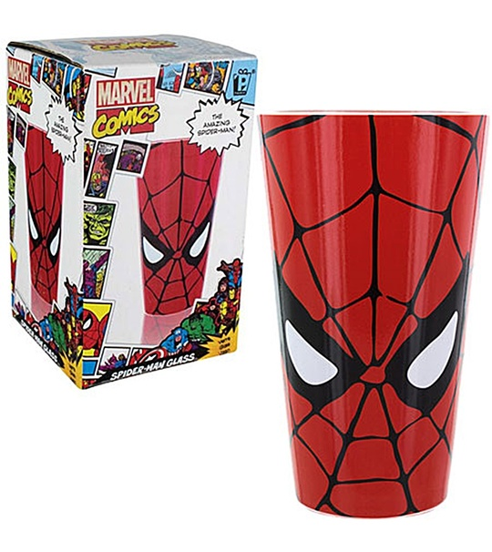 MARVEL COMICS SPIDERMAN GLASS