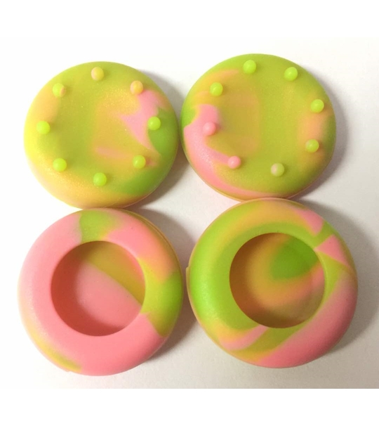 PS4/XB1 Controller Thumb Grips (Pink + Green)